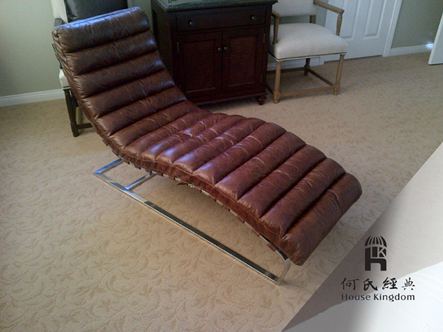 Oviedo Chaise In Vintage/waxy Leather COCO P007