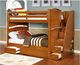 Factory price european style Small space Twin over Full Bunk Beds