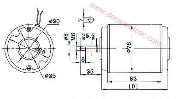 Denso Ventilador Lnf2201x Para Daewoo Bus Aire Acondicionado