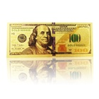 ST-Craft Hot Selling Collection Gold Plate Foil Colorful Printing 100 US Dollar Banknote