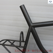 Titanium road bicycle frame and rear rack with sanding blast finish No folding bike with 142 dropouts OEM titan road bikes