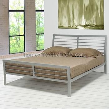 Muebles Para El Hogar Forjado Hierro Moderna Cama Con Listones De ...