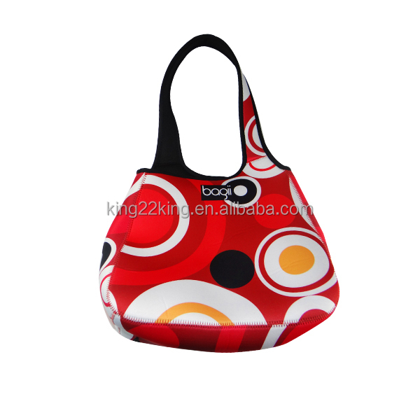 2015 new factory production lady neoprene hand bag