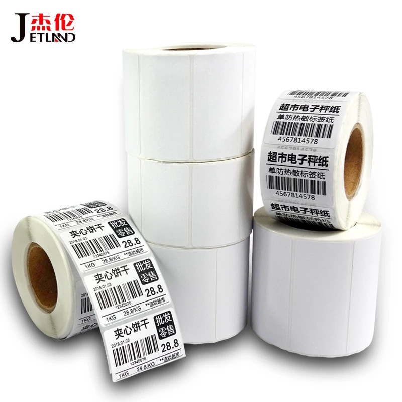 Thermal Label Sticker 50*25 Mm 900 PCS/Roll Atas Dilapisi Direct Thermal Label dengan Karton Zebra/ godex/TSC/GPRINTER/Xprinter Labeller