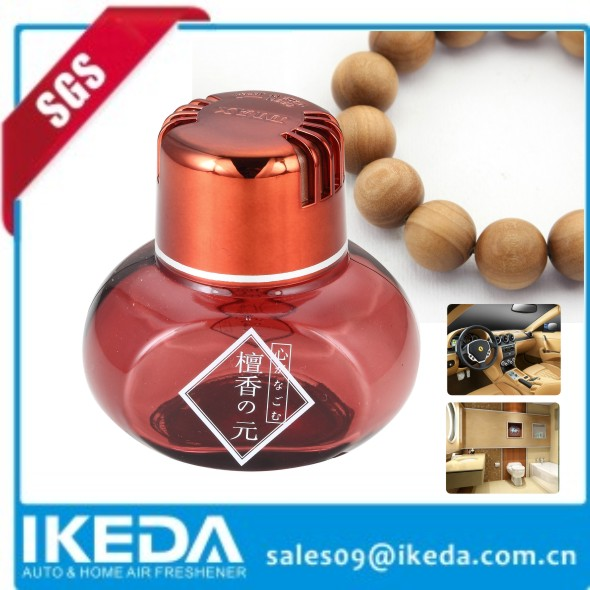 Good quality red glass perfume bottle for china style sandal