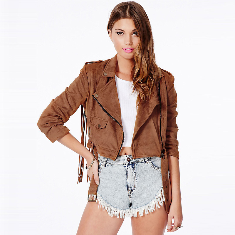 Cheap Women Brown Suede Jacket find Women Brown Suede Jacket