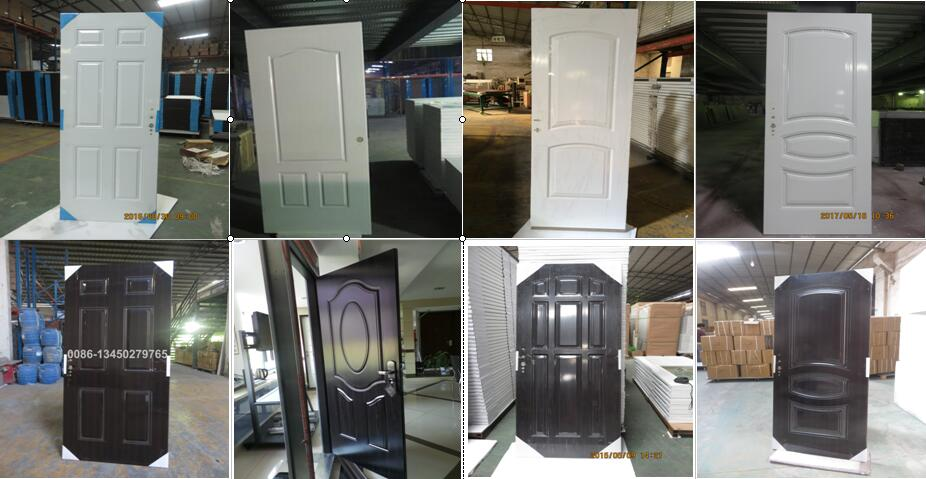 small oval glass steel door with wooden edge