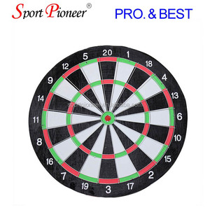 "15""Classic Wooden Dart Board Target Board and 6 darts Dart Board Two Sides"