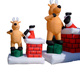 Factory direct selling price inflatable Father Christmas and deer carriage for sale