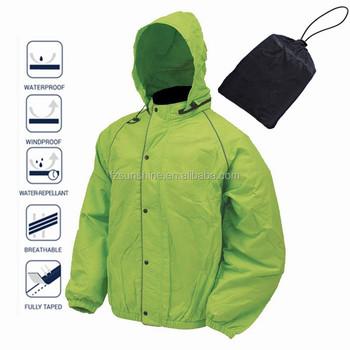 c3a9c91ea Plain Foldable Waterproof Windbreaker Jacket with reflector and bag ...