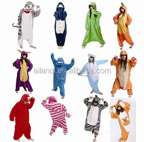 Hot Unisex adult bear costume, animal cosplay costume Onesie Sleepwear ,adult plush animal costume