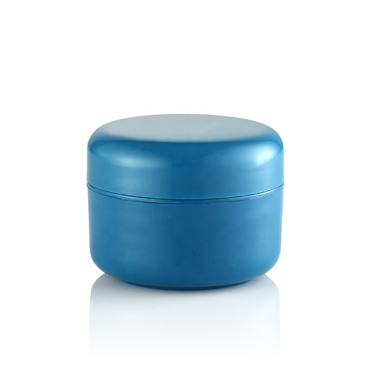 10ml 30ml 50ml Cosmetic Packaging Skin Care Cream Container Empty Blue Round Plastic Jar