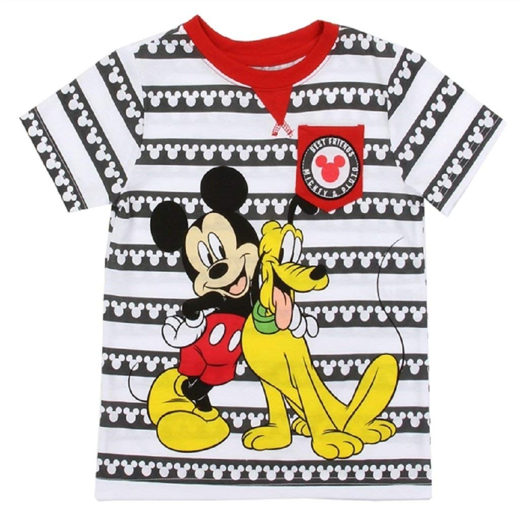 Mickey Mouse Toddler Little Boys Mickey & Pluto Best Friends Shirt