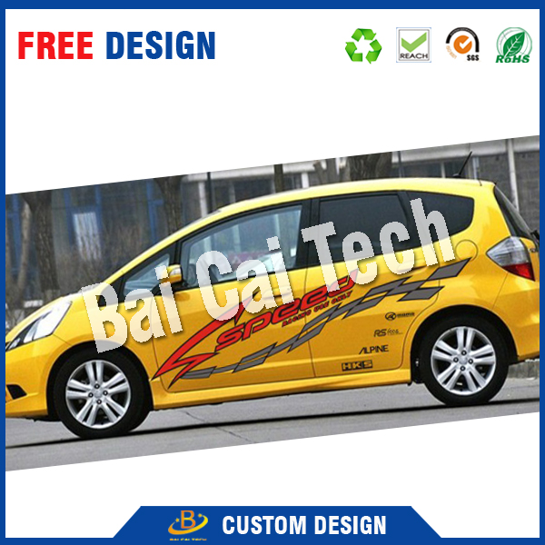 Custom offset printing waterproof vinyl car sticker, oracal sticker.