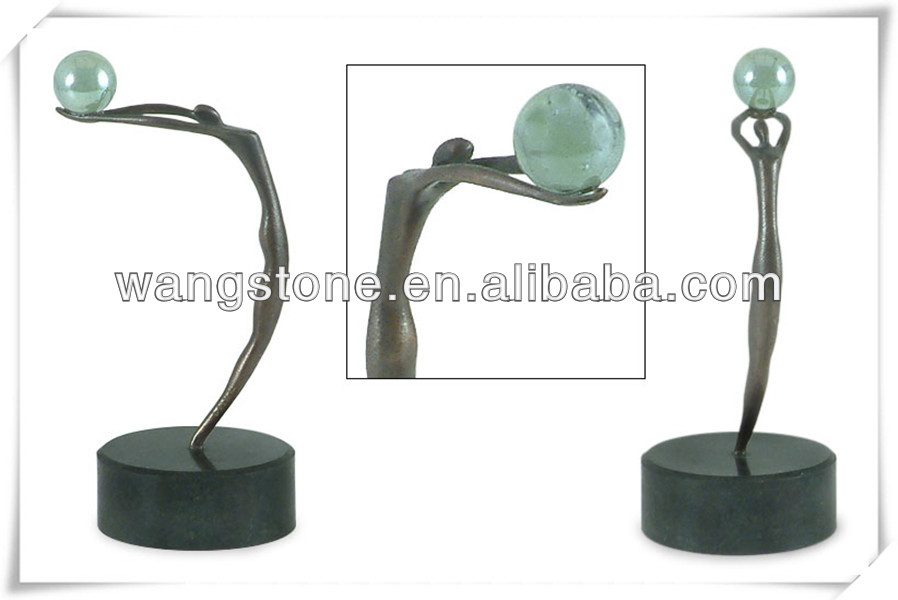 Life size motion figure stainless steel sculpture