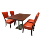 modern fast food restaurant dining table chair set