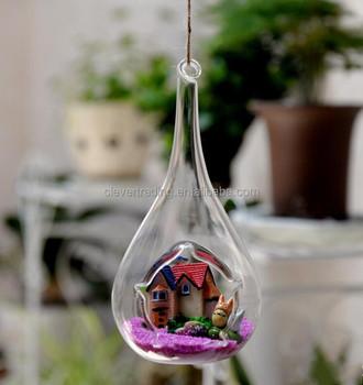 Fashion Hanging Water Drop Shaped Glass Vase For Homeu0026Wedding Decoration,  Garden Ornament