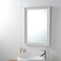 China custom 5mm 6mm mirror glass price craft wood carving mirror frame
