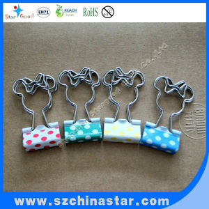 Promotional cute colored long tail clamps