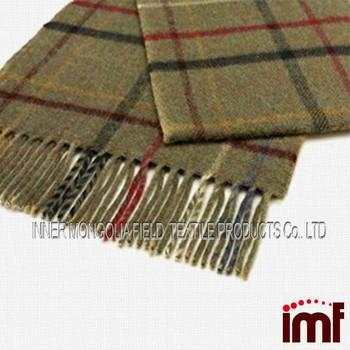 Plaid Tartan Fabric Scottish Costume Wool Shawl
