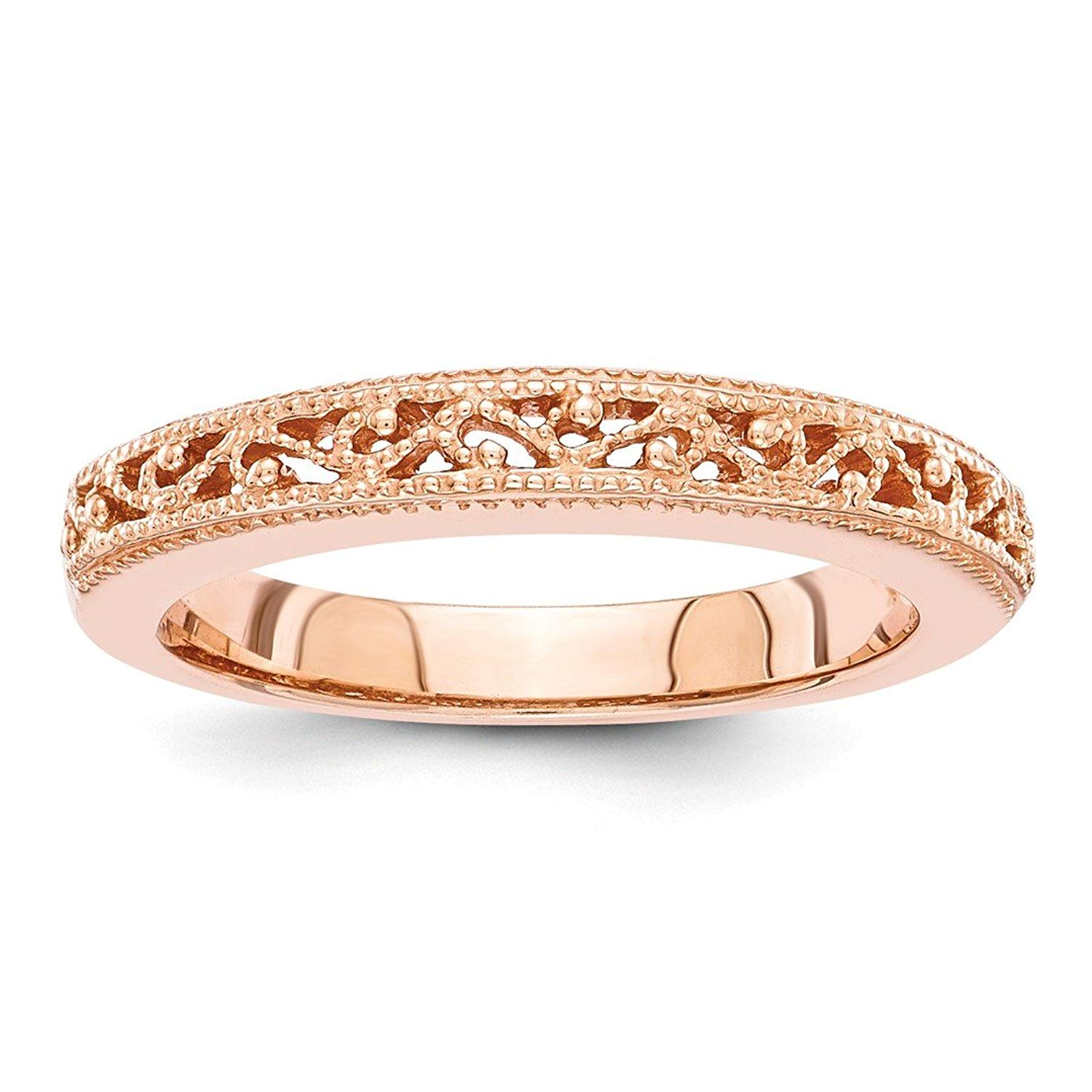 ICE CARATS 14kt Rose Gold Wedding Ring Band Fancy Fine Jewelry Ideal Gifts For Women Gift Set From Heart