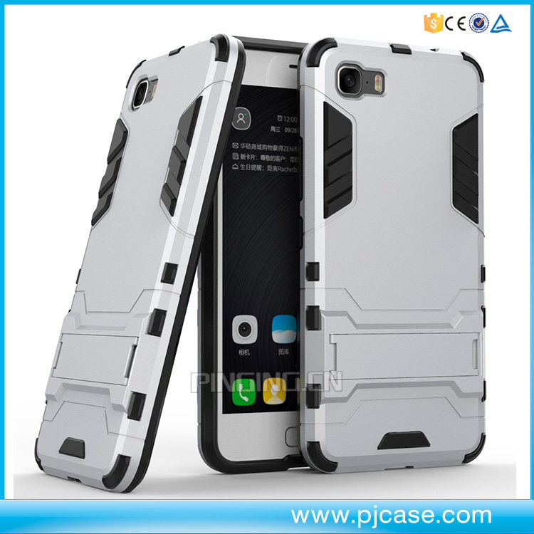 wholesale price 2 in 1 iron man heavy duty dual layer case for Asus Zenfone 3s Max ZC521TLkickstand case