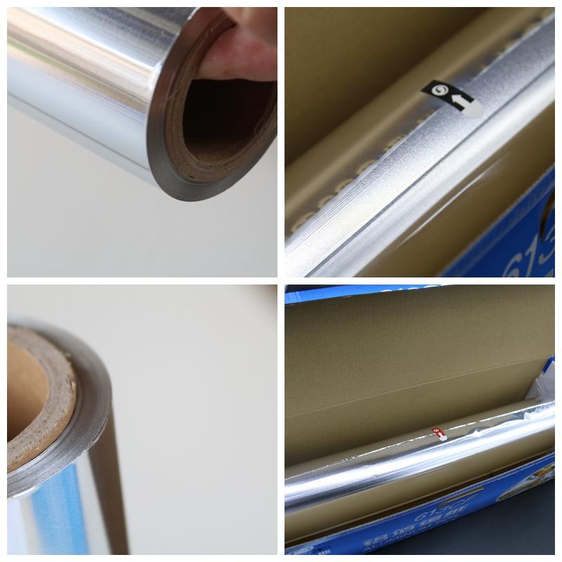 Household Aluminum Foil Roll/7 Micron Silver Foil Paper