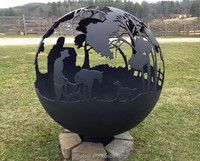 AHL-CORTEN Design Customized Rustic Outdoor Fire Pit Globe