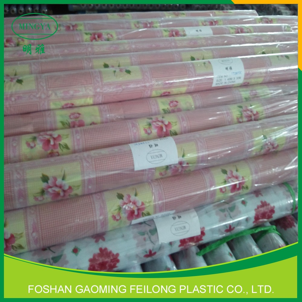 PVC Tablecloth In Roll Surface Printing Of Transparent PVC Tablecloth