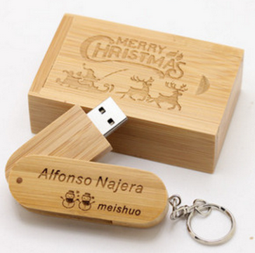Natural Wood 4GB USB Flash Drive Lot With Logo USB Disk