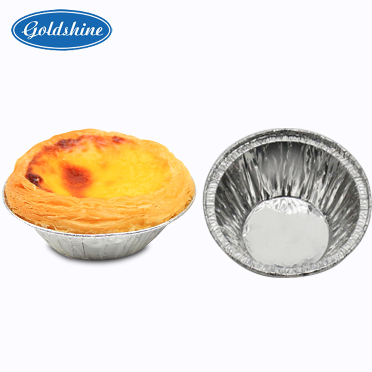 small round Aluminum foil cups for egg tart on hot sales