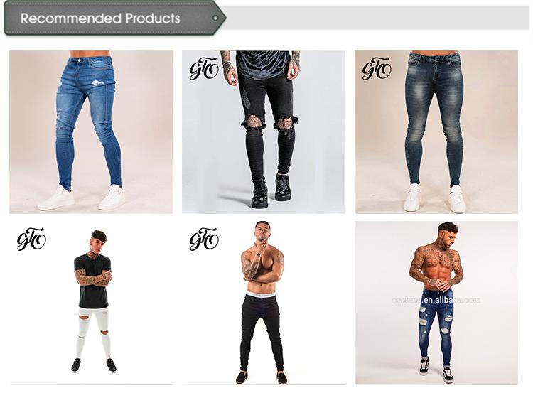 पुरुषों की फैशन स्लिम फिट पतला पैंट जीन्स डेनिम पतलून सुपर पतला प्रेमी जीन्स बाइकर जीन्स