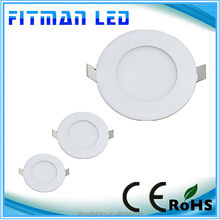 Ultra thin design 3W LED ceiling recessed slim round panel light