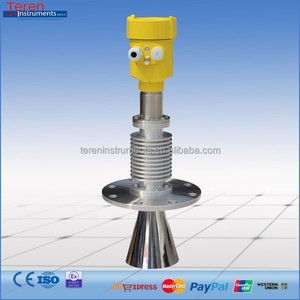 High temperature solid level measuring sensors 6GHZ radar level meter