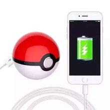 China supplier factory price 12000mah Poke ball Pokeball Pokemon go portable USB charger power bank with led light