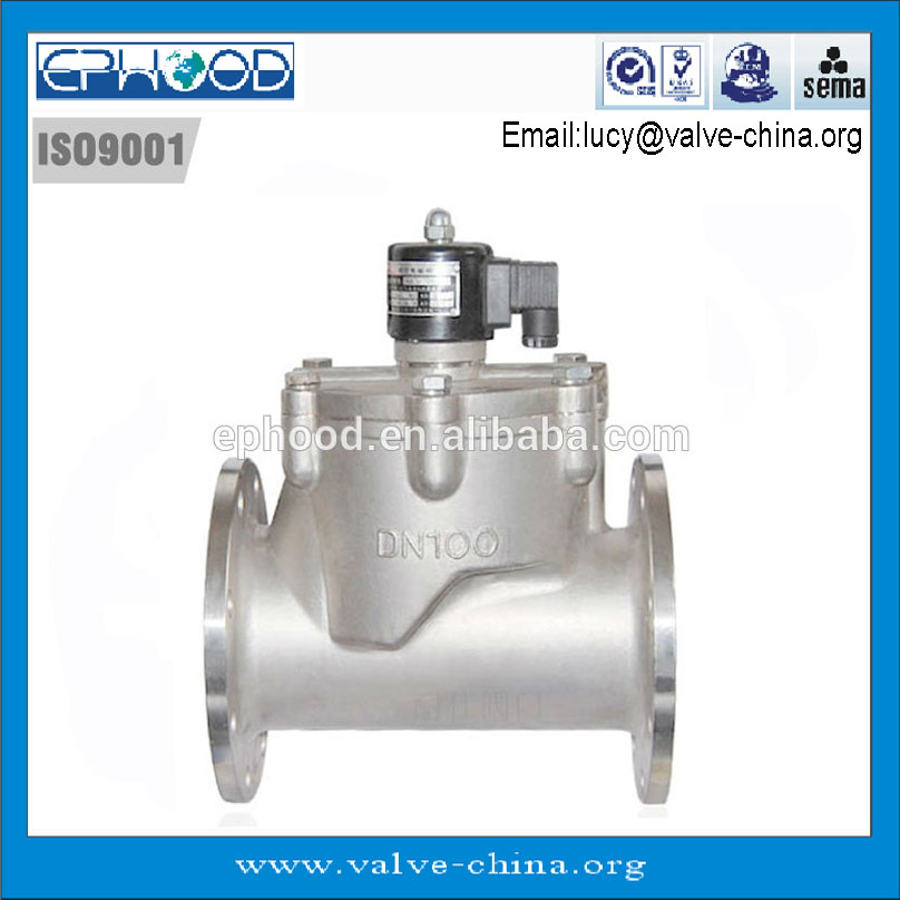 5 inch Direct Acting Stainless Steel Solenoid Valve 24VAC