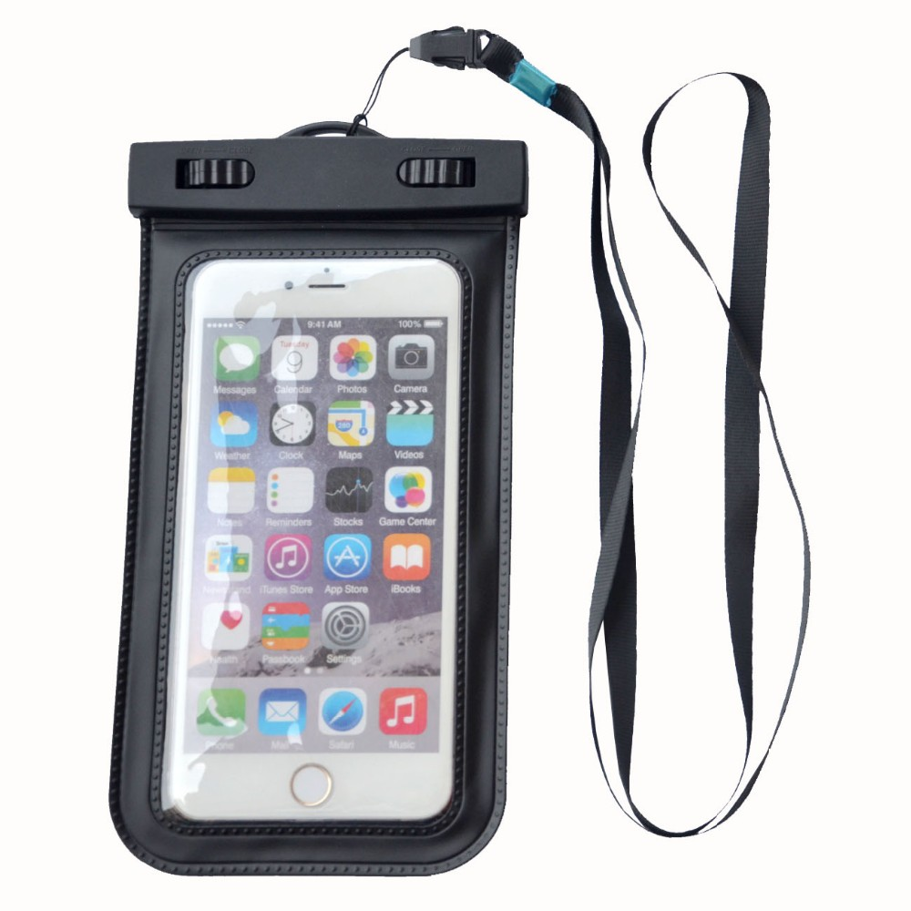 Waterproof pouch case bag for cell phones 20m water resistant Lanyard IPX8