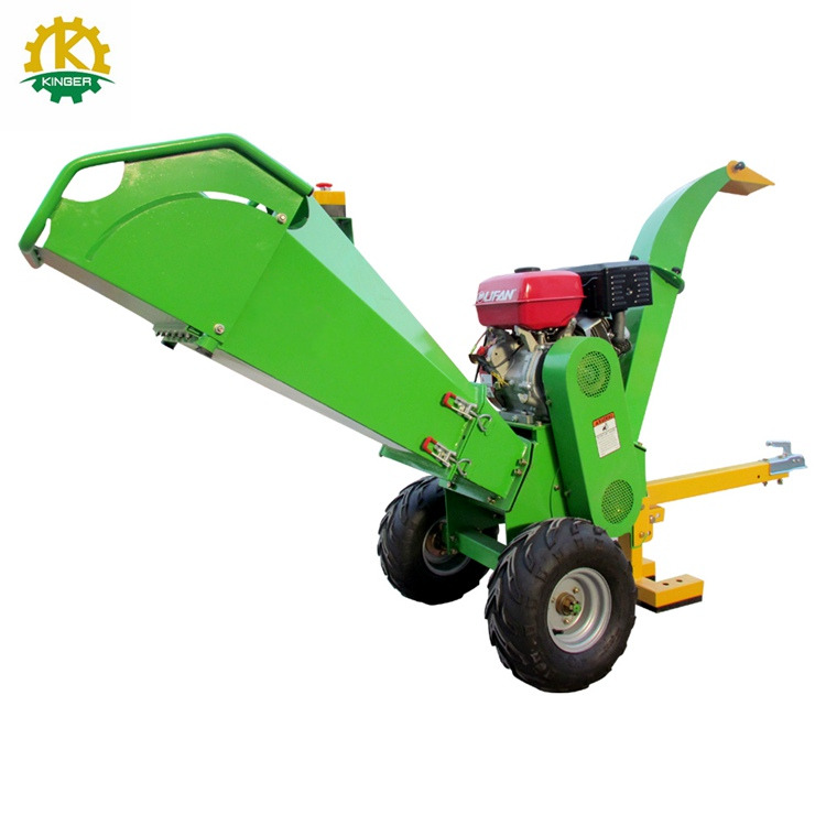 Gasoline 15 hp wood chipper price garden drum wood chipper