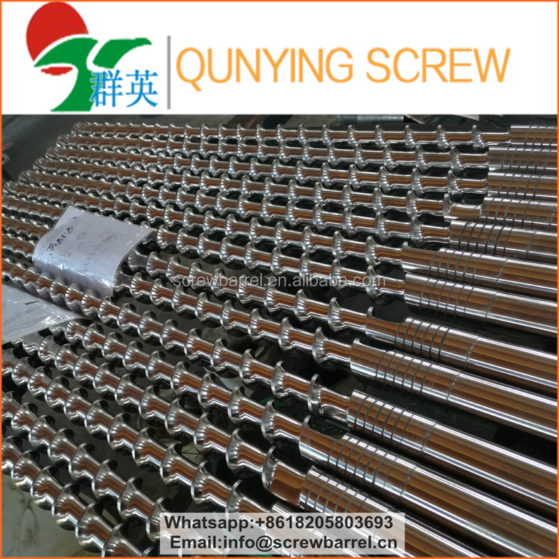 Extrusion single screw and barrel for plastic extruder machine