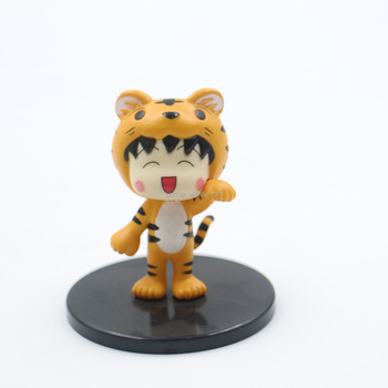 New models customized PVC mini girl cartoon tiger plastic figures