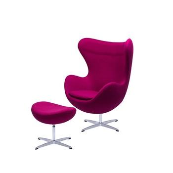Egg Chair Stof.Goedkope Clear Stof Designer Volwassen Size Eivormige Stoel Replik