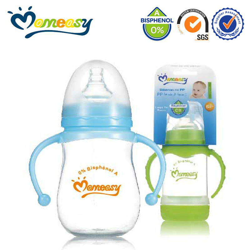 New design wide neck free PP thermos baby bottle