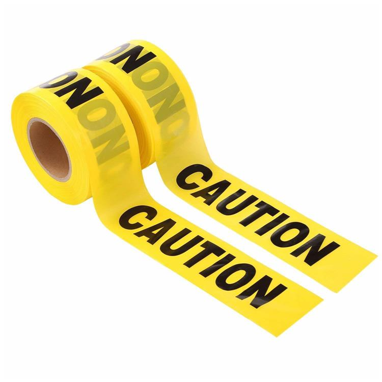 Non Adhesive Yellow And Black Printable Custom Caution Tape