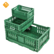 Heavy Duty Large HDPE Plastic Foldable Folding Vented Collapsible Fruit and Vegetable Storage Stackable Folding Crate