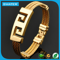IP Gold Simple Bangles 22K Gold Bangles Latest Design China Supplier