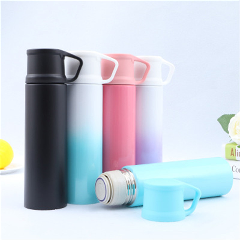 Custom Business Gifts Insulation 304 Stainless Steel Water Tumbler Portable Thermos Cups