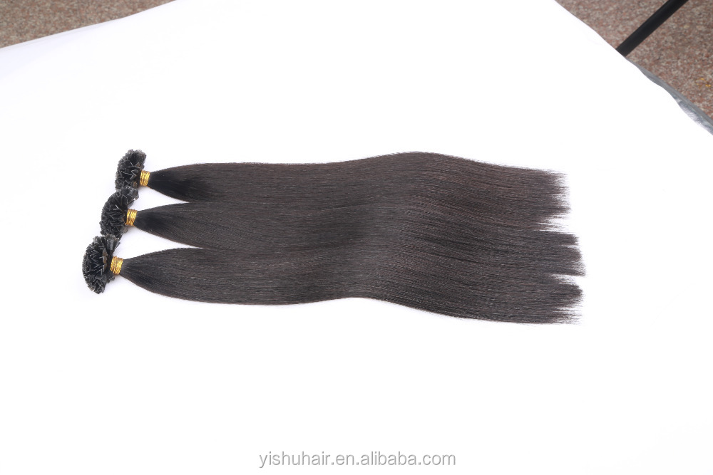 V tip Purple black Keratin Glue Human Hair Extensions/Top Quality Aliexpress pre-bonded v-tip