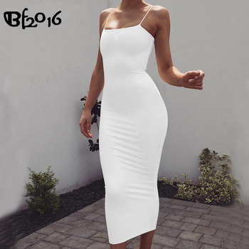 Strap Backless Sexy Long Bodycon Dress Off Shoulder Summer Maxi Dress Party Dress Women