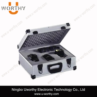 black packaging boxes camera carry case aluminum flight storage case with buffered foam