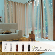 Bintronic Taiwan Electric Window Blinds Poles Motorized Vertical Blind Electric Windows Curtain Accessories